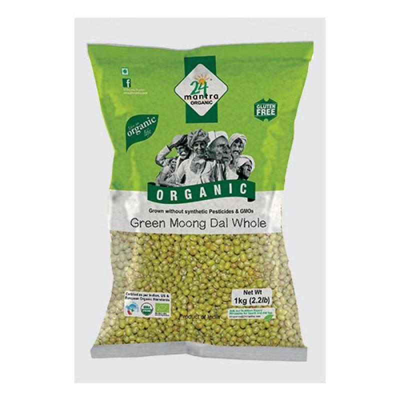 24 Mantra Green Moong Dal Whole
