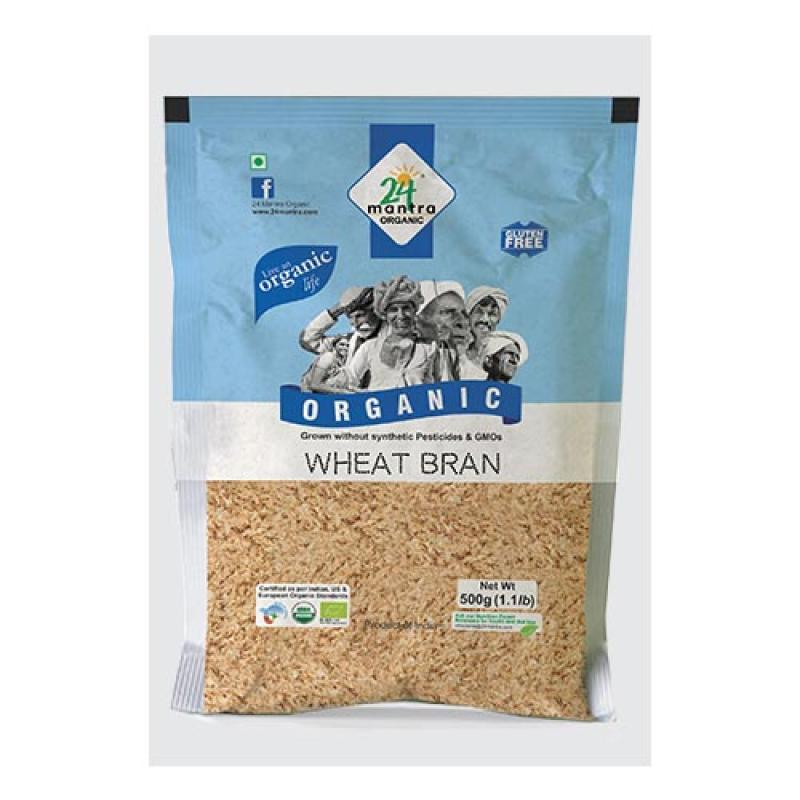 24 Mantra Wheat Bran 500 Gm