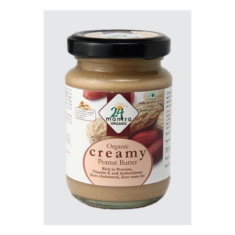 24 Mantra Creamy Peanut Butter 150 Gm