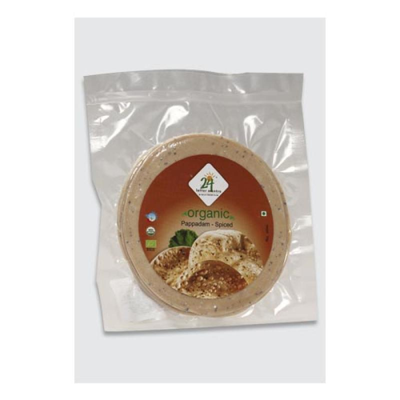 24 Mantra Pappadam Spiced 100 Gm