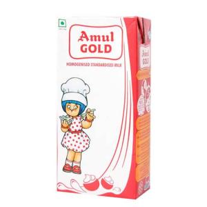 Amul Gold Homogenised Standardised Milk 1 lt