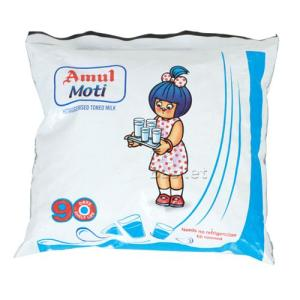 Amul Moti Homogenised Toned Milk 500 ml Pouch