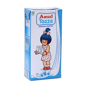 Amul Taaza Homogenised Toned Milk 1 lt