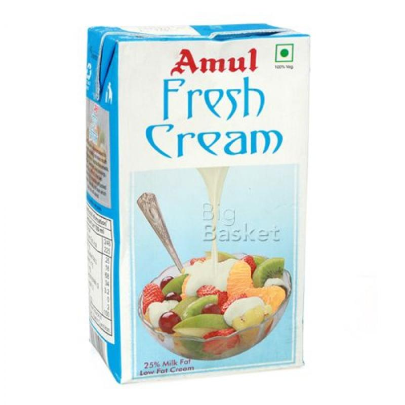 Amul Fresh Cream  25% Milk Fat Low Fat 1 lt