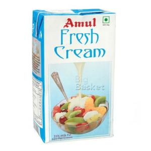 Amul Fresh Cream 25% Milk Fat Low Fat 1 lt image