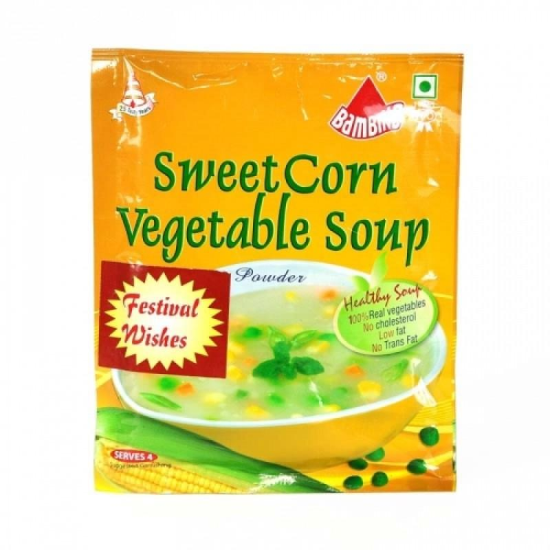 Bambino Soup Powder - Sweet Corn Vegetable 50 gm Pouch