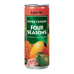 Lotte Fruit Drink - Four Seasonal 250 ml Can