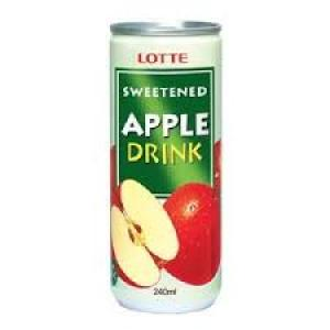 Lotte Fruit Drink - Apple 250 ml Can
