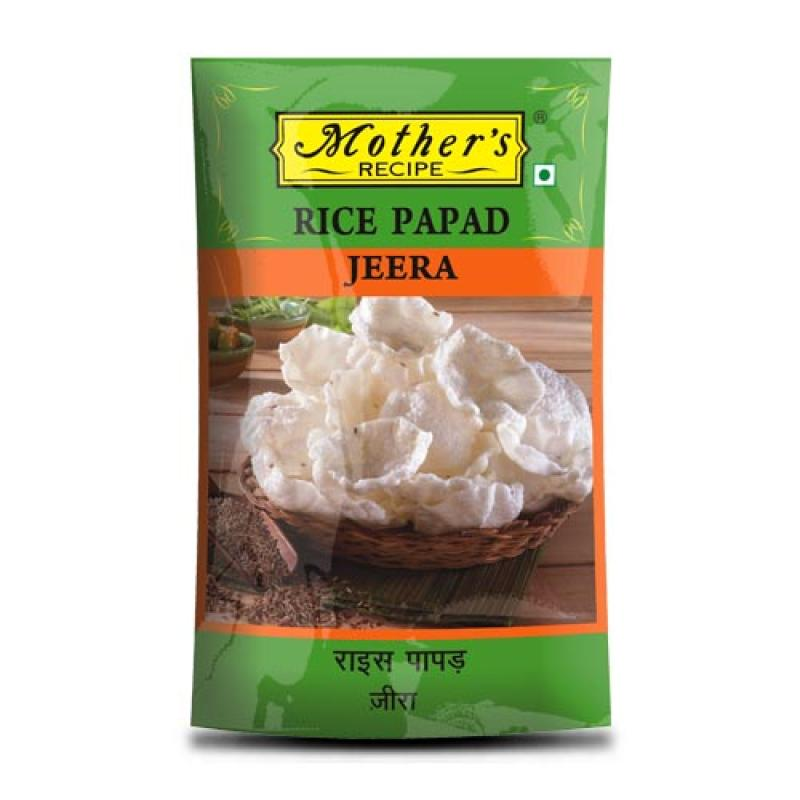 Mother's Recipe Rice Papad Jeera 75 gm