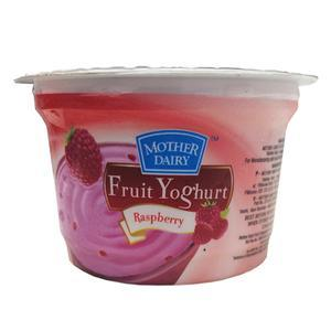 Mother Dairy Raspberry Yoghurt  100Gm