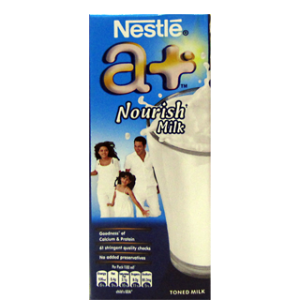 Nestle A+ Nourish - Toned Milk 180 ml Carton