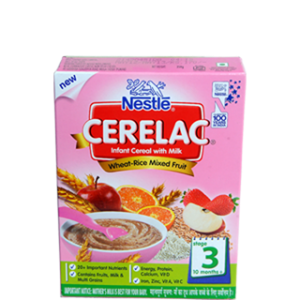 Nestle Cerelac - Wheat Mixed Fruit (Stage 3) 300 gm Carton