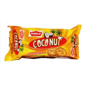 Parle Biscuits - Coconut Crunchy with Real Coconut 100 gm Pouch