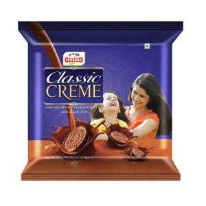Priyagold Sandwich Creme Biscuits - Chocolate 500 gm Pouch