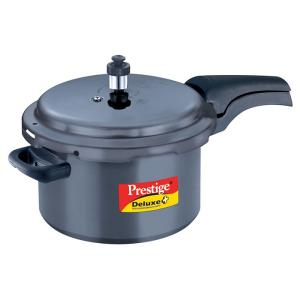 Prestige Deluxe Hard- Anodized Pressure Cooker plus