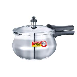 Prestige Stainless Steel Deluxe Pressure Cookers - Alpha Base 2 Ltr Baby Handi