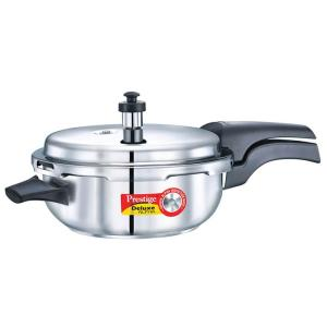 Prestige Stainless Steel Deluxe Pressure Cookers - Alpha Base SNR PAN