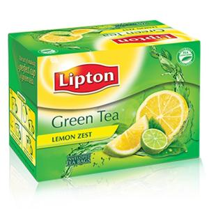 Lipton Lemon Zest Green Tea Bags