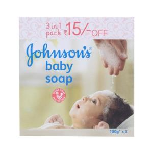 Johnson's baby Soap 3 in 1 Pack - 100 Gm
