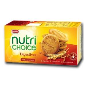 Britannia Nutri Choice Digestive Whole Wheat  250 gm