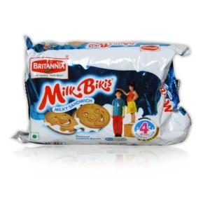 Britannia Milk Bikis Milky Sandwich Cream Biscuits
