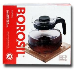 Borosil Inspiring Carafe With Strainer In Lid-Black