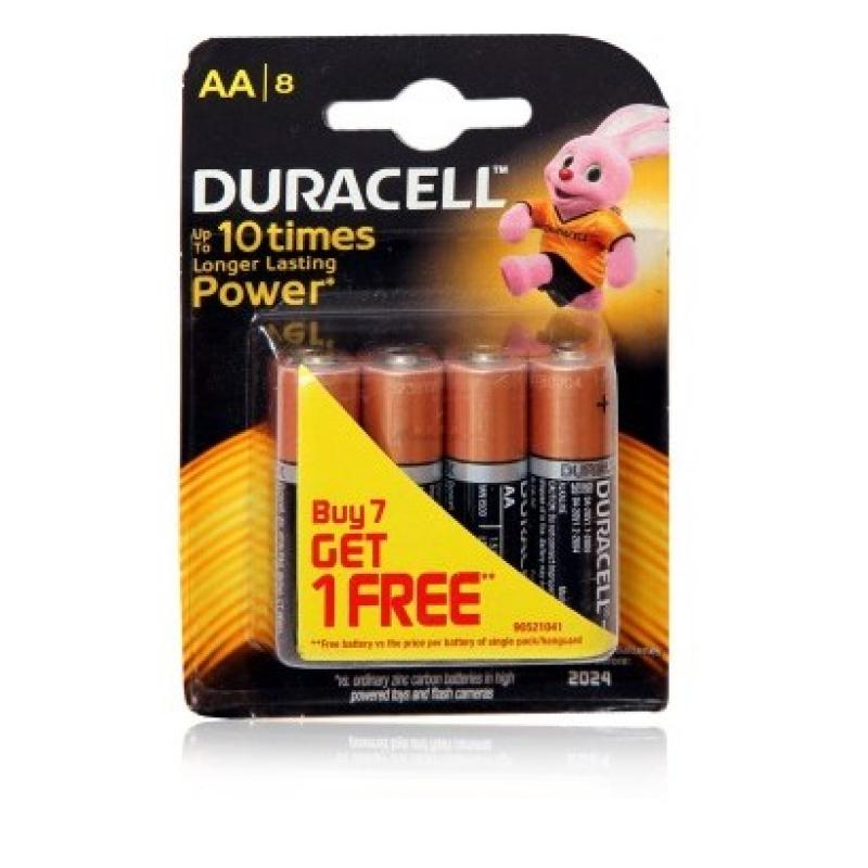 Duracell Alkaline Batteries - 10X Power (AA) MN Pouch MN 1500 -LR6 Buy 7 Get 1 Free