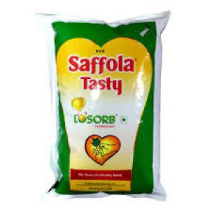 Saffola Tasty Refined Oil Pouch 1 ltr