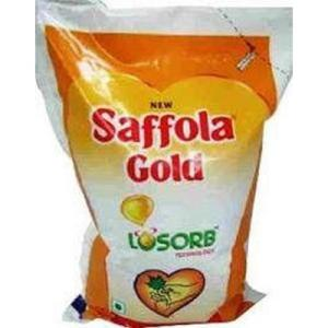 Saffola Gold Refined Oil  Pouch 1 Lt